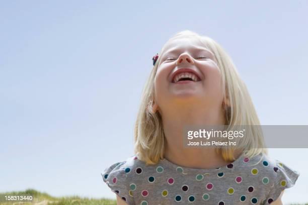 Grinning Caucasian girl