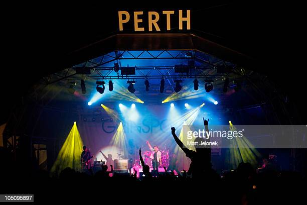 Grinspoon performs on stage on day two of the 2010 One Movement Music Festival on October 9 2010 in Perth Australia