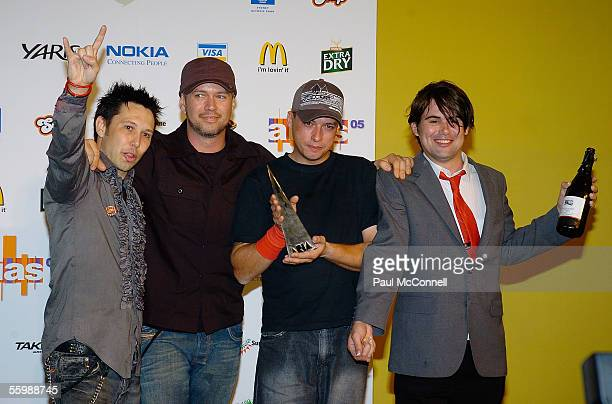Grinspoon poses in the media room at the 19th Annual ARIA Awards at the Sydney SuperDome on October 23 2005 in Sydney Australia The ARIA Awards...