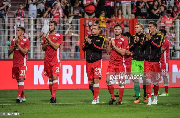 Grischa Proemel Christoph Schoesswendter Felix Kroos Michael Parensen Jakob Busk and Damir Kreilach of 1 FC Union Berlin after the game between Union...