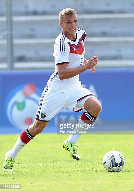 Grischa Promel of Germany in action during the football match U20 Italy and U20 Germany international friendly on September 3 2015 in Lucca Italy