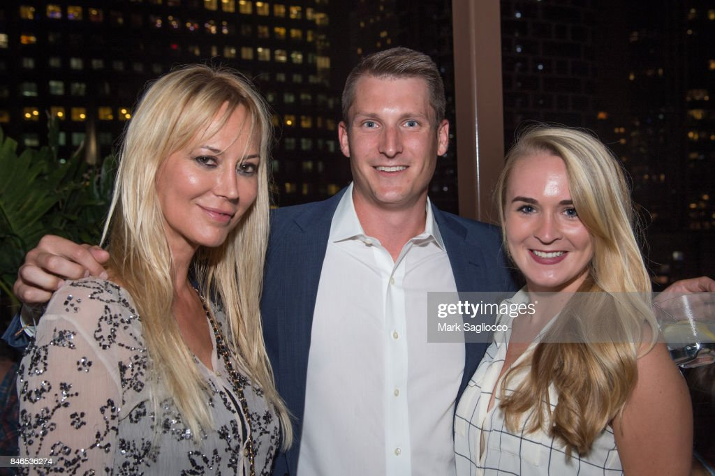 Griselda Lechini, Jeffrey Costikyan and Laura Newell attend Hamptons Magazine's Celebration with Cover Star Maria Sharapova at PHD Terrace at Dream Midtown on September 12, 2017 in New York City.