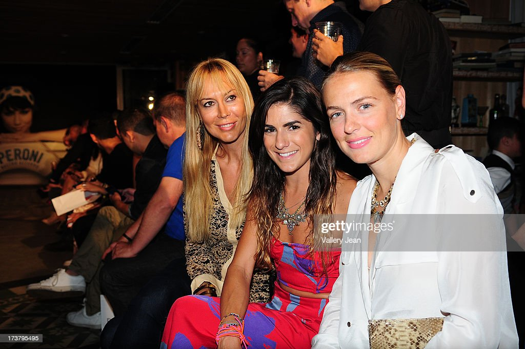 Griselda Lechini, Rachael Russell and Rachel Alpert Giammattei attends Peroni Emerging Designer Series presented by Fashion Group VENUE] on July 17, 2013 in Miami, Florida.