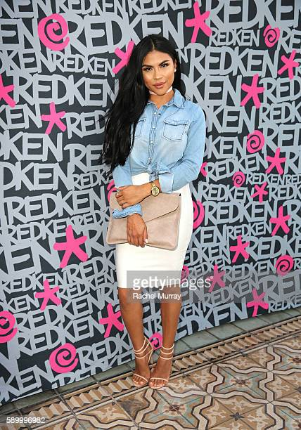 Griselda Martinez @makeupbygriselda attends the Redken Perch rooftop party at ipsy Open Studios on August 15 2016 in Santa Monica California