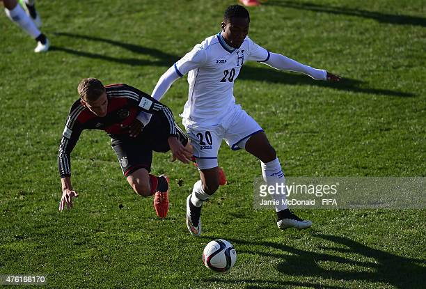 Grisha Promel of Germany battles with Deybi Flores of Honduras during the FIFA U20 World Cup New Zealand 2015 Group F match between Honduras and...