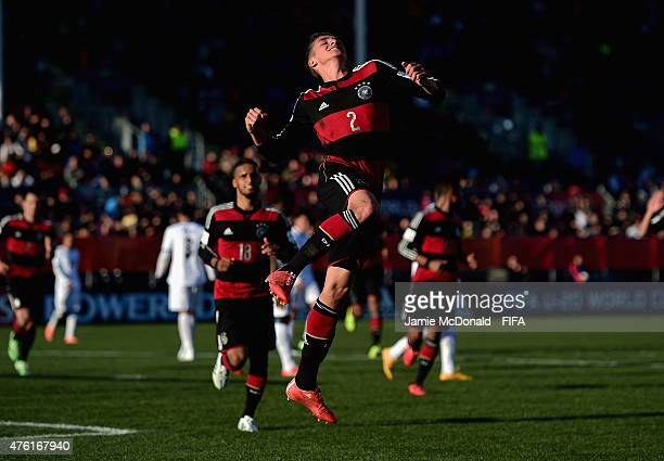 Grisha Promel of Germany celebrates his goal during the FIFA U20 World Cup New Zealand 2015 Group F match between Honduras and Germany at the...