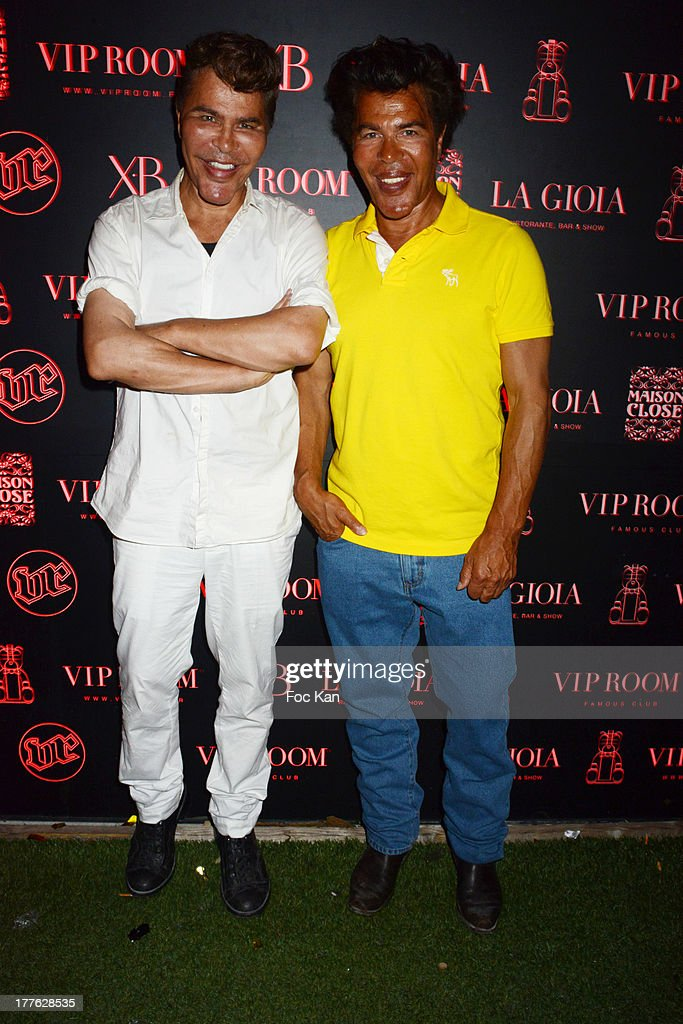 Grishka Bogdanov and Igor Bogdanov attend the VIP Room on August 24, 2013 in Saint Tropez, France.