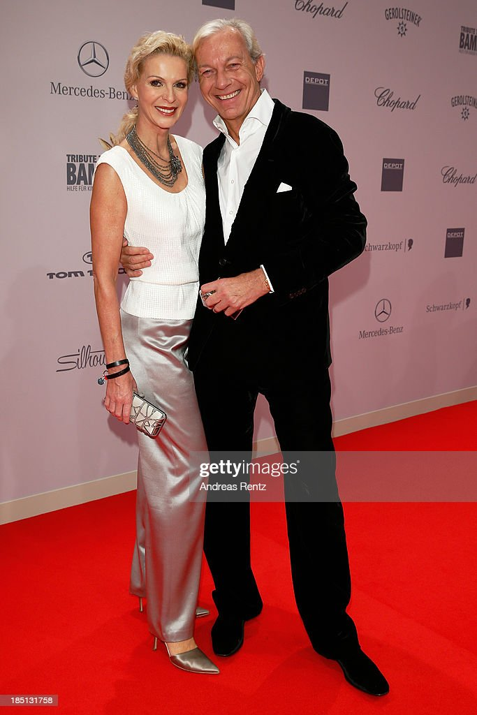 Grit Weiss and Jo Groebel arrive at Tribute To Bambi at Station on October 17, 2013 in Berlin, Germany.