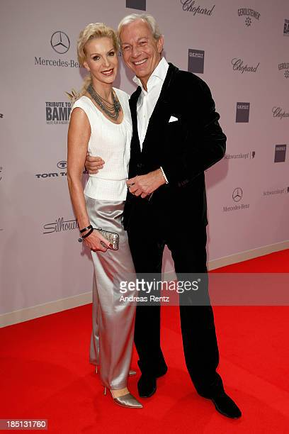 Grit Weiss and Jo Groebel arrive at Tribute To Bambi at Station on October 17 2013 in Berlin Germany