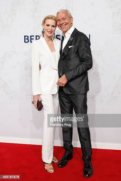 Grit Weiss and Jo Groebel attend the Bertelsmann Summer Party at the Bertelsmann representative office on September 10 2014 in Berlin Germany