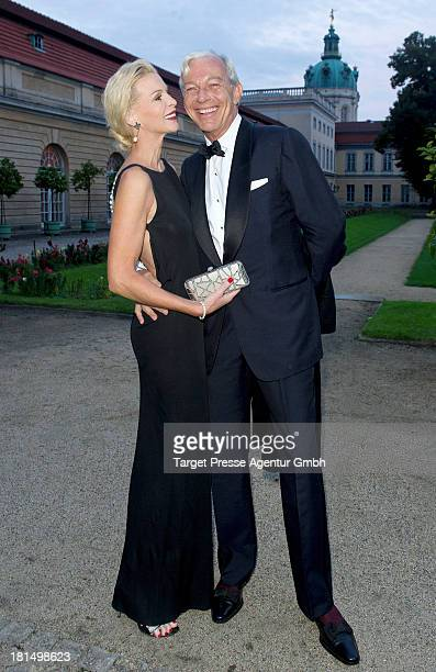 Grit Weiss and Jo Groebel attend the celebration of the 250th anniversary of the Koenigliche PorzellanManufaktur Berlin at Charlottenburg Palace on...