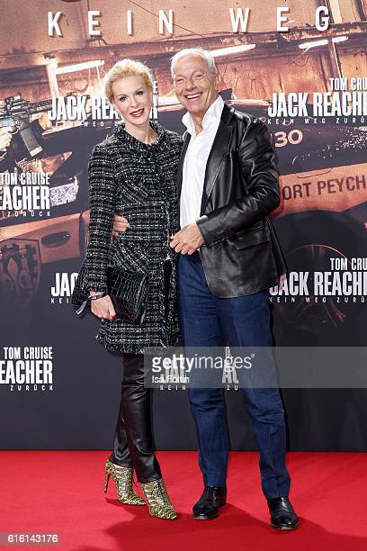 Grit Weiss and Jo Groebel attend the 'Jack Reacher Never Go Back' Berlin Premiere at CineStar Sony Center Potsdamer Platz on October 21 2016 in...