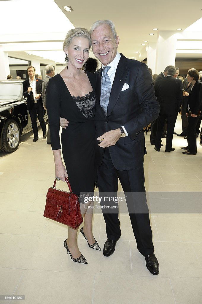 Grit Weiss and Jo Groebel attend the Rolls-Royce Motorcars Berlin Opening on November 24, 2012 in Berlin, Germany.