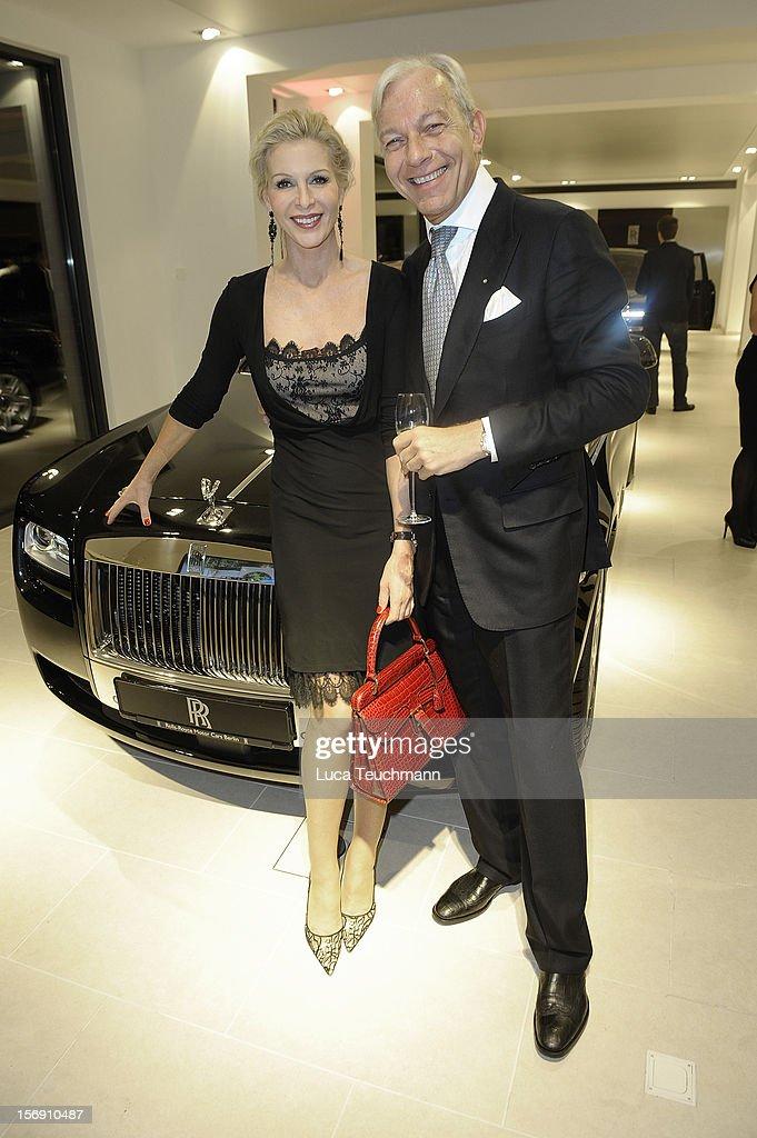 Grit Weiss and Jo Groebel attend the Rolls-Royce Motorcars Berlin Opening on November 24, 2012 in Berlin, Germany.