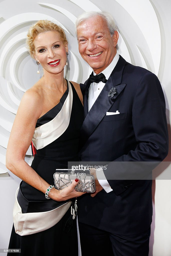 Grit Weiss and Jo Groebel attend the Rosenball 2016 on April 30, 2016 in Berlin, Germany.