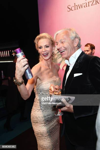 Grit Weiss and Jo Groebel attend the Tribute To Bambi after show party at Station on October 5 2017 in Berlin Germany