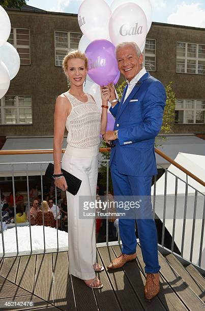 Grit Weiss and Jo Groebel attends the Gala Fashion Brunch at Ellington Hotel on July 11 2014 in Berlin Germany