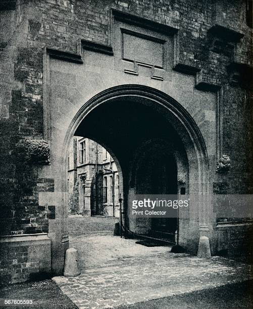 'Grizedale Hall Lancashire Archway in Tower to PorteCochere' c1911 Grizedale Hall was a large country house at Grizedale Hawkshead in the Lake...