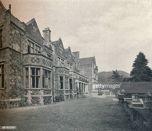 'Grizedale Hall Lancashire The South Front and Terrace' c1911 Grizedale Hall was a large country house at Grizedale Hawkshead in the Lake District in...