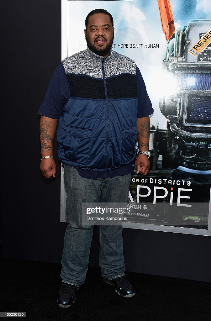 Grizz Chapman attends the 'Chappie' New York Premiere at AMC Lincoln Square Theater on March 4 2015 in New York City