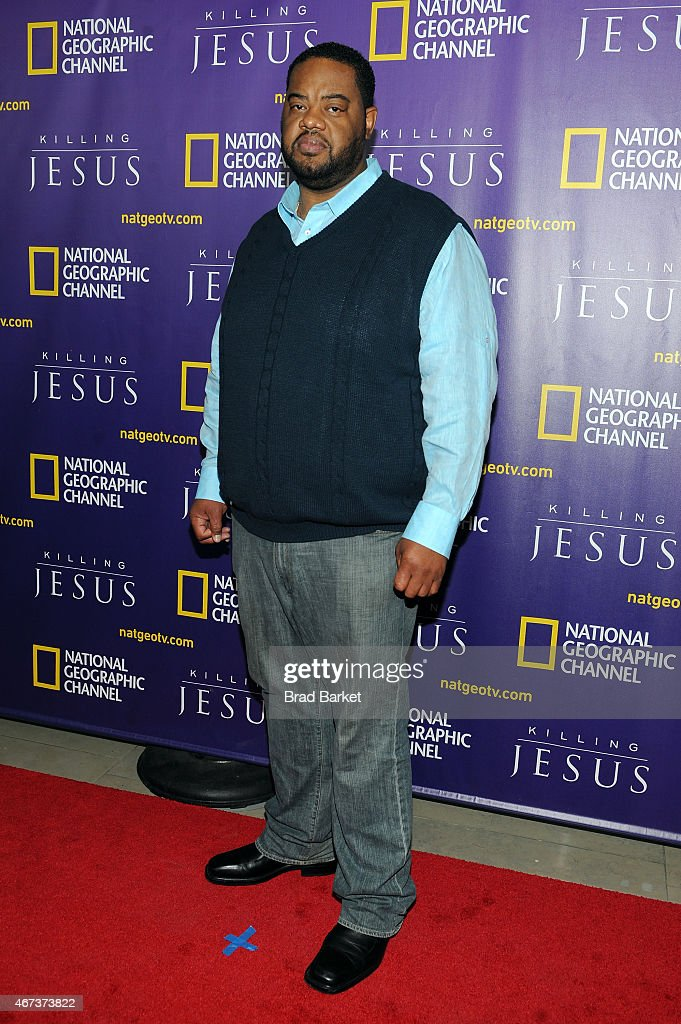 Grizz Chapman attends the red carpet event and world premiere of National Geographic Channel's 'Killing Jesus' at Alice Tully Hall on March 23 2015...