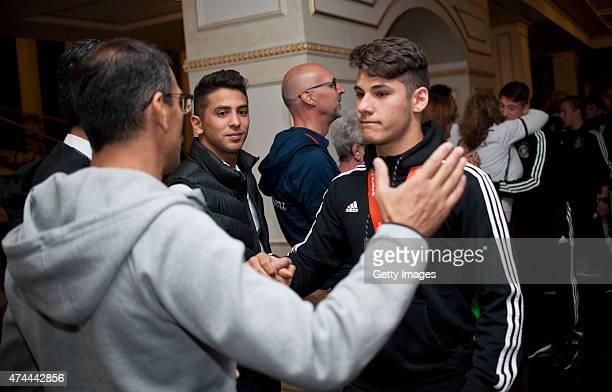 Görkem Saglam of Germany U17 arrives for the U17 Germany Official Reception after the UEFA European Under17 Championship Final match on May 22 2015...