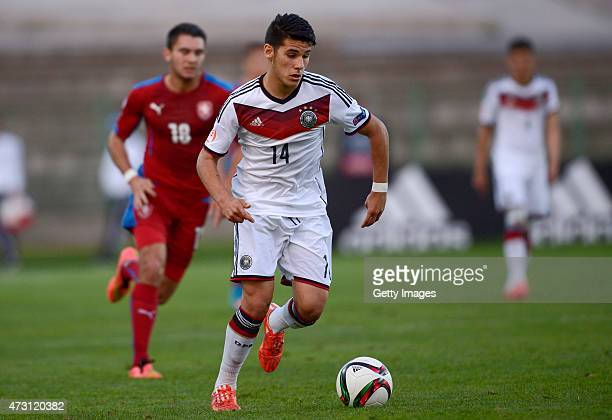 Görkem Saglam of Germany U17 in action during the UEFA European Under17 Championship match between Germany U17 and Czech Republic U17 at Beroe...