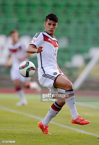 Görkem Saglam of Germany U17 in action during the UEFA European Under17 Championship Semi Final match between Germany U17 and Russia U17 at Beroe...
