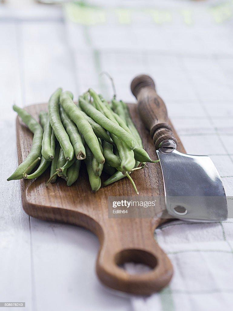 Grüne Bohnen : Bildbanksbilder