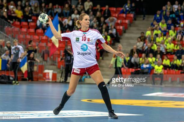 Gro HammersengEdin 10 in the Women's EHF Champions league match between Larvik HK and CSM Bucuresti on February 25 2017 in Larvik Norway