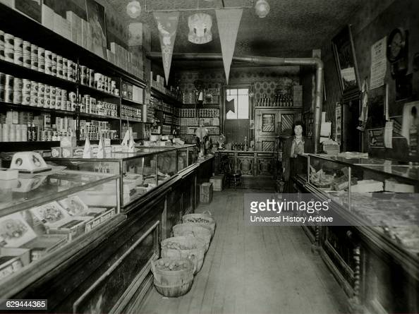 Grocer and Grocery Store USA circa 1910