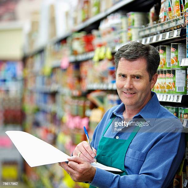 Grocer at Work