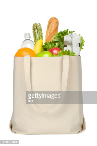 Groceries in Canvas Tote