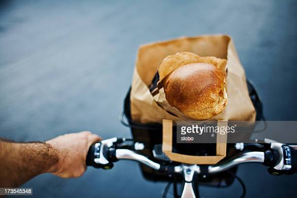 Grocery shopping on a bicycle