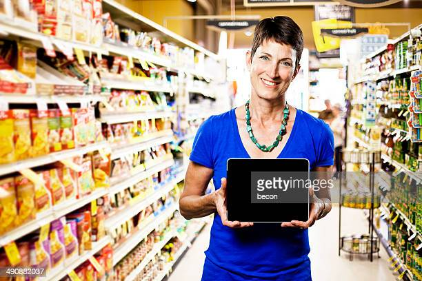Grocery Shopping with Tablet
