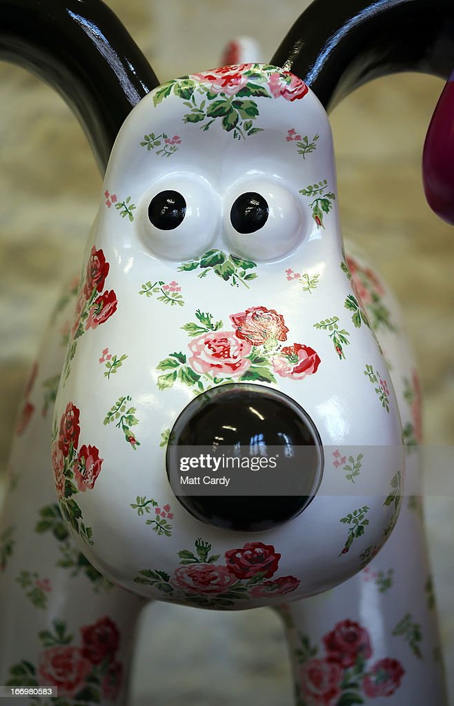 A Gromit sculpture, one of around 70, that has been painted by celebrity artist, Cath Kidston, is seen before it is placed around the city for public view as part of charity initiative arts trail, on April 19, 2013 in Bristol, England. After being displayed to the public from July 1, the sculptures will be eventually auctioned off to raise funds for the Bristol Children's Hospital charity, Wallace & Gromit's Grand Appeal.