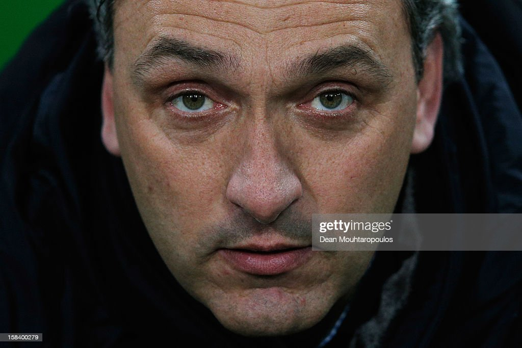 Groningen Manager / Coach, Robert Maaskant looks on prior to the Eredivisie match between FC Groningen and VVV Venlo at the Euroborg Stadium on December 15, 2012 in Groningen, Netherlands.