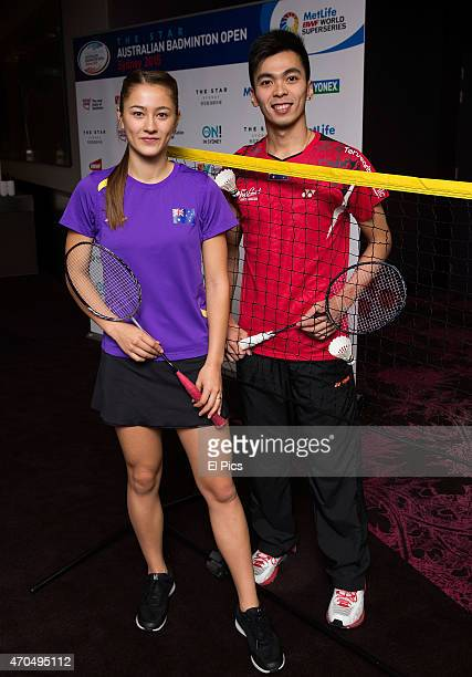 Gronya Somerville and Michael Fariman attend the launch of The Star Australian Badminton Open tournament on April 21 2015 in Sydney Australia It is...