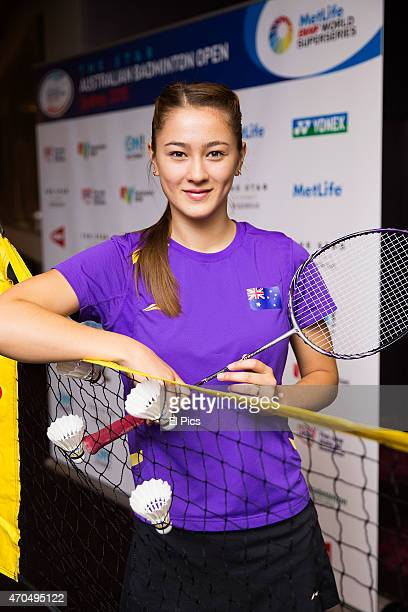 Gronya Somerville attends the launch of The Star Australian Badminton Open tournament on April 21 2015 in Sydney Australia It is the first...