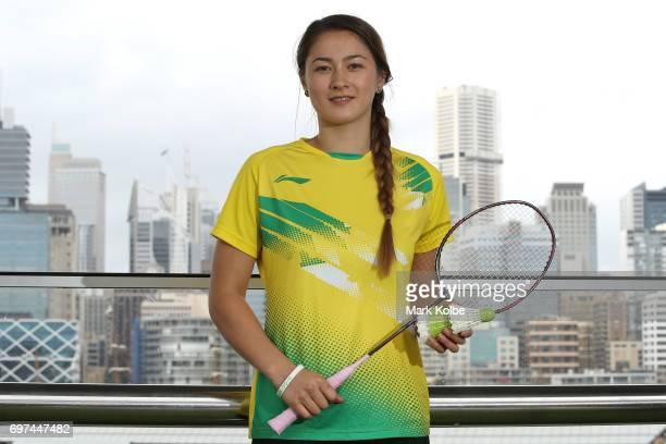 Gronya Somerville of Australia poses during an Australian Open Badminton Media Call at Star City on June 19 2017 in Sydney Australia
