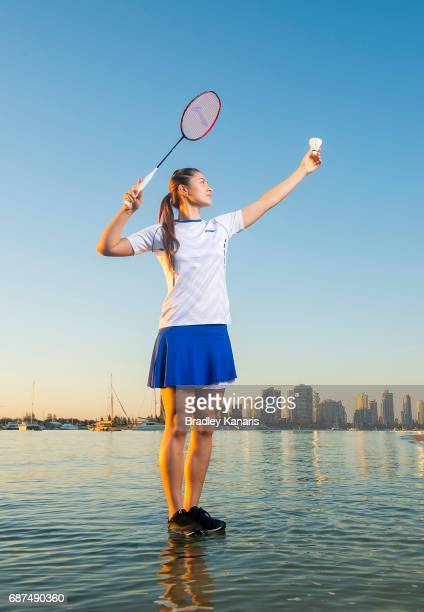 Gronya Somerville poses for a portrait during the Sudirman Cup on May 24 2017 in Gold Coast Australia Twentyone year old Australian badminton star...