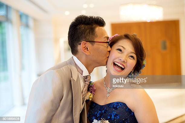 Groom to kiss the bride cheek