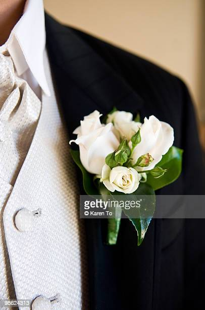 Groom's Lapel Wedding Flower Corsage