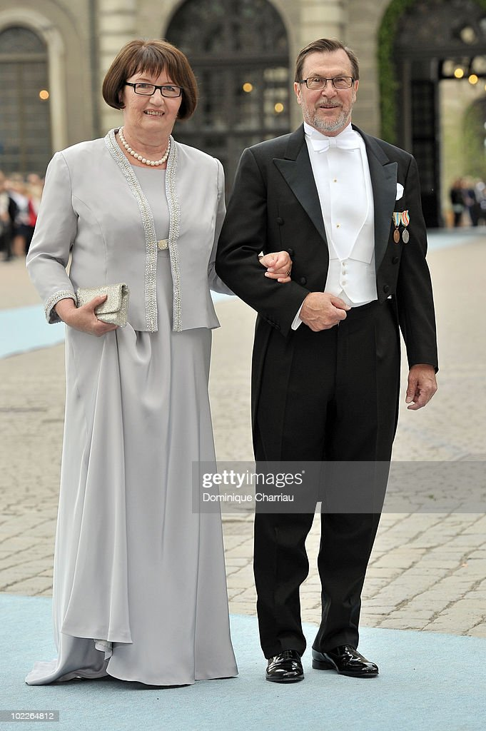 Grooms parents Olle and Ewa Westling attend the wedding of Crown Princess Victoria of Sweden and Daniel Westling on June 19, 2010 in Stockholm, Sweden.
