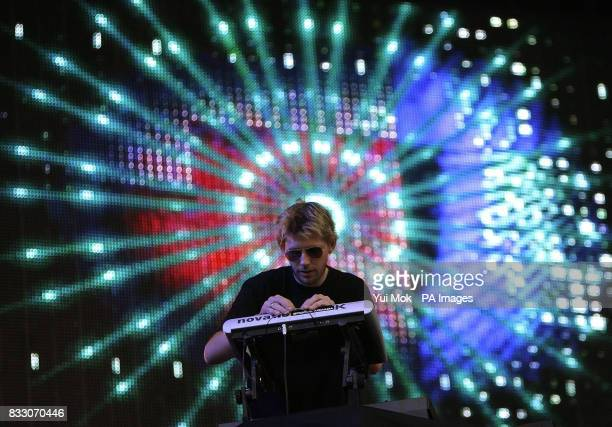 Groove Armada perform at the Isle of Wight Festival in Seaclose Park Isle of Wight