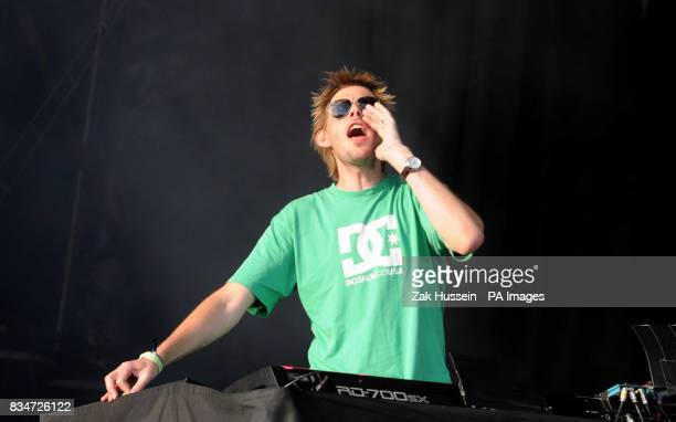 Groove Armada perform during the Lovebox Weekender at Victoria Park in east London