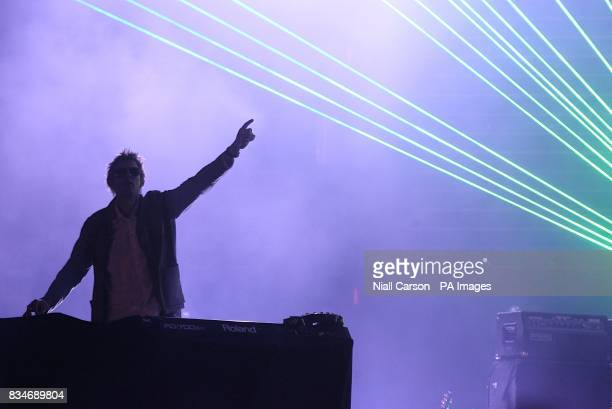 Groove Armada perform during the Oxegen Festival 2008 at the Punchestown Racecourse Naas County Kildare Ireland