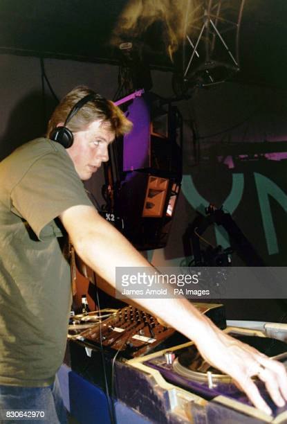 Groove Armada's Tom at the decks on stage at the Lynx Zero Gravity concert in London