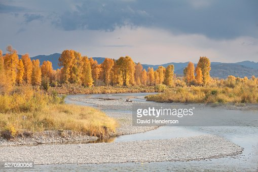 Gros Ventre in Grand Teton National Park in autumn, Wyoming, USA : Photo