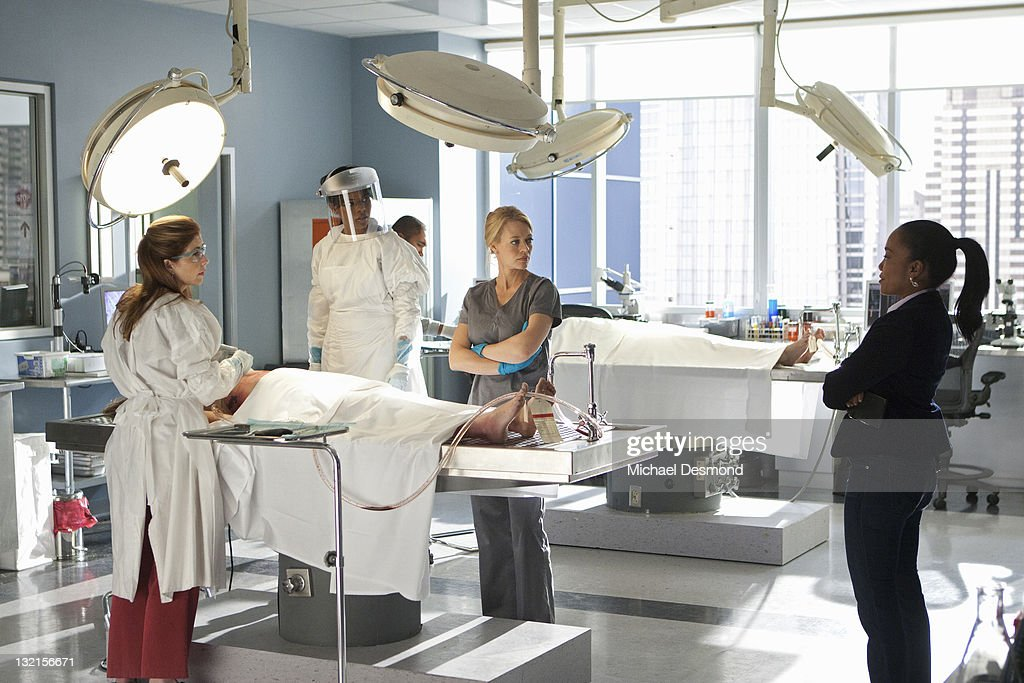 PROOF - 'Gross Anatomy' - A murdered young woman's body turns up in place of a medical school cadaver during class, leaving Megan to rely on the aid of the star student to help solve the case, on 'Body of Proof,' TUESDAY, NOVEMBER 29 (10:00-11:00 p.m., ET) on the ABC Television Network. (Photo by Michael Desmond/ABC via Getty Images)DANA